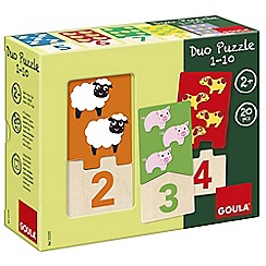 Jumbo - 1-10 Numbers Wooden Jigsaw Puzzles