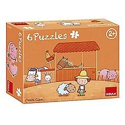 Jumbo - Carla's Farm Shaped Wooden Jigsaw Puzzles