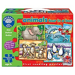 Orchard Toys - Animals four in a box puzzle