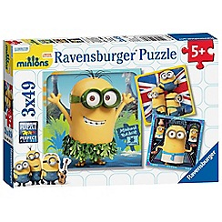Despicable Me - Three 49-piece Minions puzzles