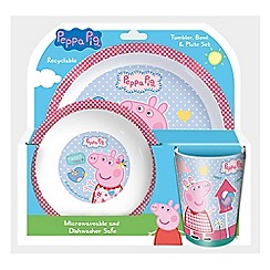 Peppa Pig - Tumbler, bowl and plate set
