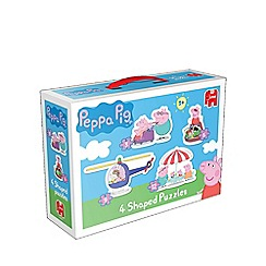 Peppa Pig - 4 in 1 Shaped Jigsaw Puzzles