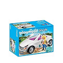 Playmobil - City Life convertible with woman and puppy