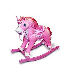 Keel - Rocking Horse 46cm - Unicorn design with sound