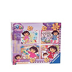 Dora the Explorer - 4 in 1 jigsaw puzzles