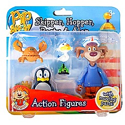 Pip Ahoy - Skipper, Hopper, Pasty and Alan action figures