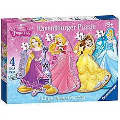 Disney Princess - 4 shaped jigsaw puzzles