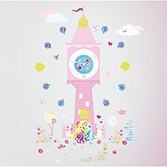 Disney Princess - Tick tock clock wall stickers