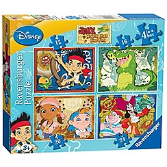 Jake & The Neverland Pirates - 4 in 1 jigsaw puzzles