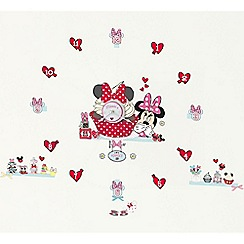 Minnie Mouse - Tick tock clock wall stickers