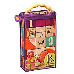 B. - Wooden blocks (15 pieces)