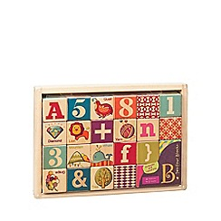 B. - Wooden block in wooden tray (24 pieces)