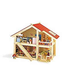 Pintoy - Furnished woodlands dolls house