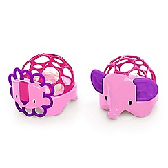Oball - Pink rollie rattles