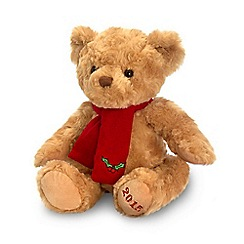 Keel - Cuddly 2015 teddy bear toy with Christmas scarf