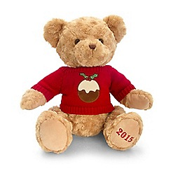 Debenhams - Cuddly 2015 teddy bear toy with Christmas sweater