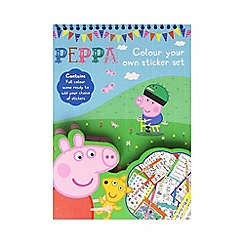 Peppa Pig - Colour Your Own Stickerset with full colour scenes