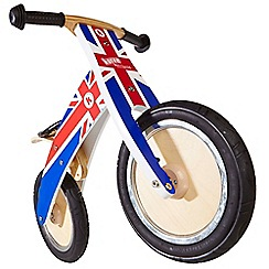 kiddimoto - Union Jack Kurve wooden bike
