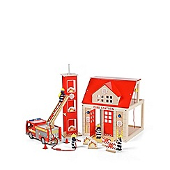 Tidlo - Wooden fire station set