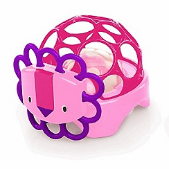Oball - Rollie Rattles Toy - Pink Lion