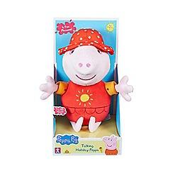 Peppa Pig - Talking holiday peppa plush