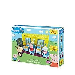 Peppa Pig - Bricks schoolhouse set with teacher