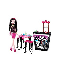 Monster High - Beast bites cafe draculaura doll and playset