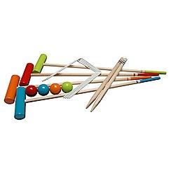 Plum - Wooden Garden Croquet Set