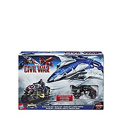 Captain America - Civil War cycle blast quinjet