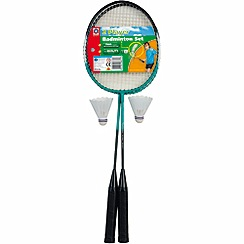 Mookie - 2 player badminton set in clamshell