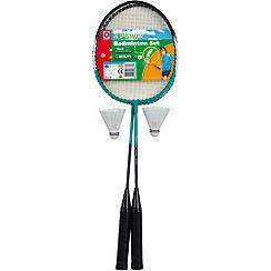 Mookie - 2 player badminton set in clamshell