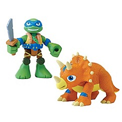Teenage Mutant Ninja Turtles - Half-Shell Heroes 2 Pack - Dino Leo and Triceratops