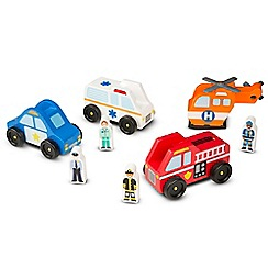 Melissa & Doug - Wooden Emergency Vehicle Set - 19285