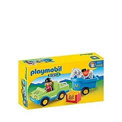 Playmobil - 123 Car with Horse Trailer - 6958