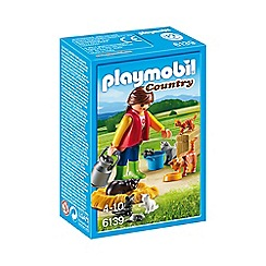 Playmobil - Woman with Cat Family - 6139