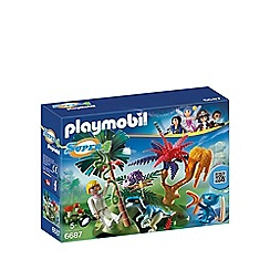 Playmobil - Super 4 Lost Island with Alien and Raptor - 6687