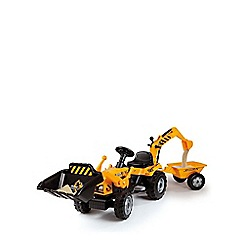 Smoby - Tractor Builder Tricycle Pedal Ride-On