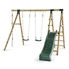 Plum - Giant Baboon Wooden Swing Set