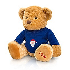 Keel - Debenhams 2016 Christmas bear in dark blue sweater - 35cm