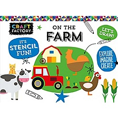 Parragon - Craft factory stencil book - on the farm book