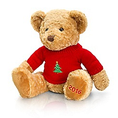 Keel - Debenhams 2016 Christmas bear in red sweater - 35cm