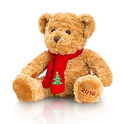Keel - Debenhams 2016 Christmas Bear in red scarf - 25cm