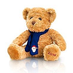 Keel - Debenhams 2016 Christmas Bear in dark blue scarf - 25cm