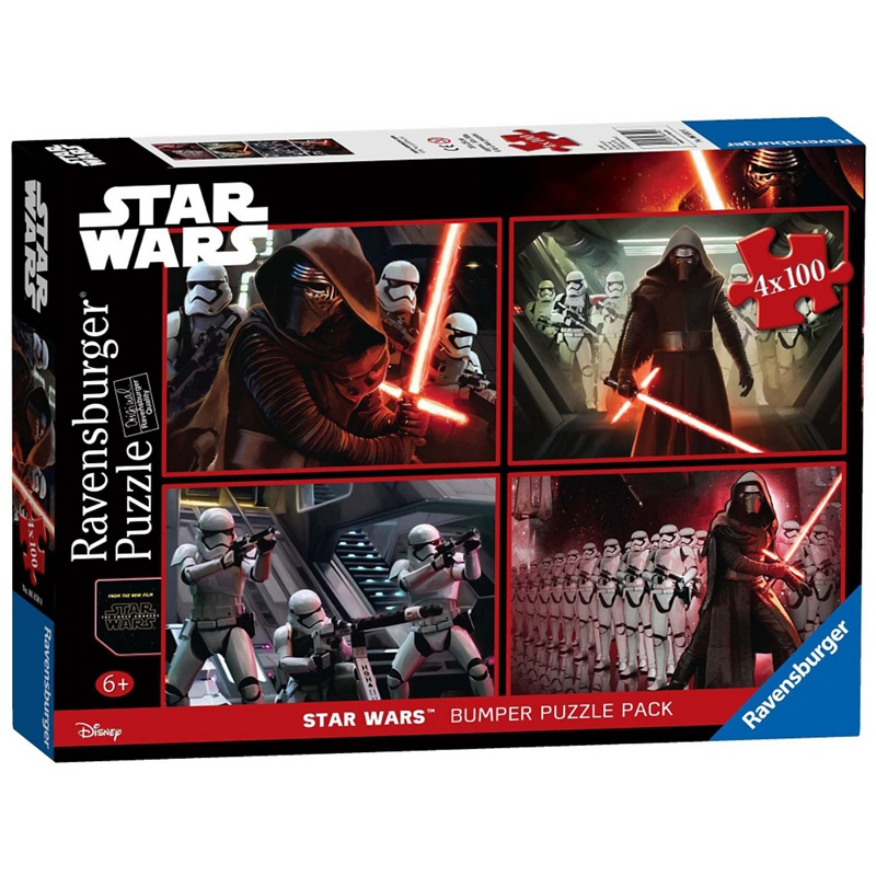 Star Wars Episode VII 4x 100 Piece Jigsaw Puzzle Bumper Pack