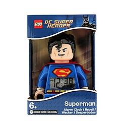 LEGO - DC Comics  Super Heroes Superman Minifigure Alarm Clock