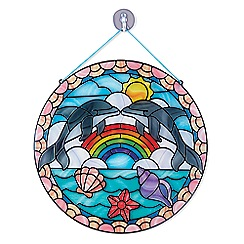 Melissa & Doug - Stained Glass Made Easy - Dolphins - 19291