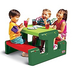 Little Tikes - Junior Picnic Table - Evergreen