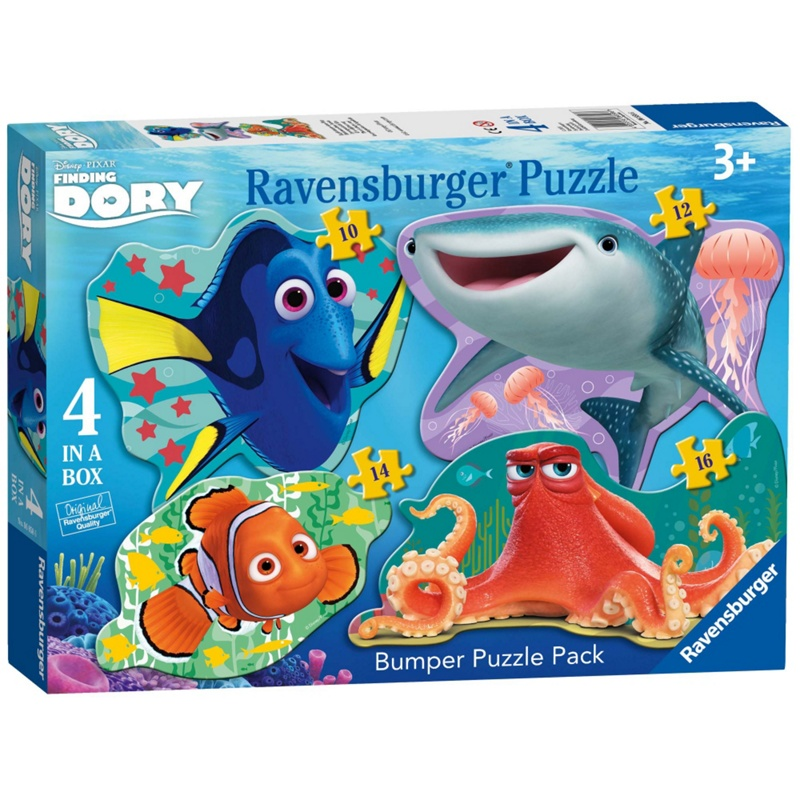 Disney PIXAR Finding Dory 4 Shaped Jigsaw Puzzles