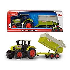 Dickie - Claas ares tractor and dumper set