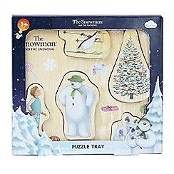 The Snowman - Wooden Puzzle Tray